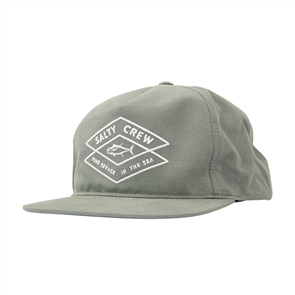 Salty Crew Tiller 5 Panel Hat, Sage Green
