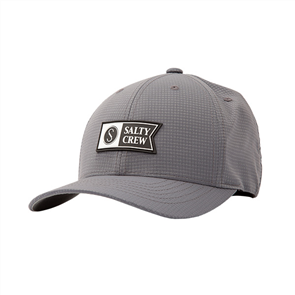 Salty Crew Alpha Tech 6 Panel Hat, GREY