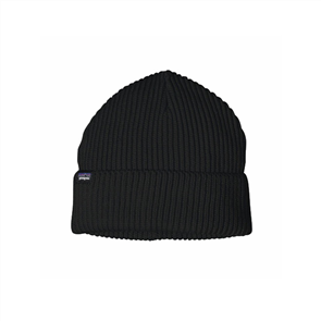 Patagonia Fishermans Rolled Beanie, Black