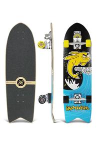 "SmoothStar Flying Fish 32"" Surf Skateboard, Yellow & Black"