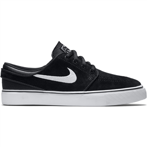 Nike Youth Stefan Janoski (GS) Skateboarding Shoe, Black White