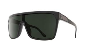 SPY Flynn Sunglass Frame: Black Matte Black, Lens: Happy Grey Green