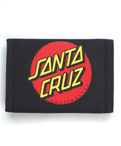 Santa Cruz Big Dot Velcro Wallet, Black