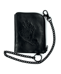 Santa Cruz Screaming Hand Chain Wallet, Black