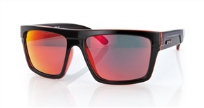 Carve Volley Iridium Sunglasses, Black Red