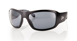 Carve Check Polarized Sunglasses, Matt Black