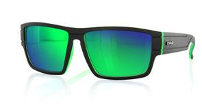 Carve Sublime Iridium Sunglasses, Matt Black Green