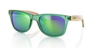 Carve Bronte Iridium Sunglasses, Green Bamboo