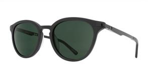 SPY Sunglasses Pismo  Matte Black - Happy Grey Green