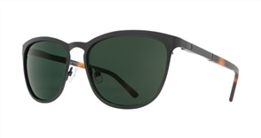 SPY Sunglass Cliffside Matte Black/Matte Honey Tort - Happy Grey Green