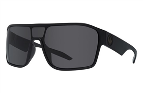 Dragon Tolm Sunnies, Shiny Black / Grey