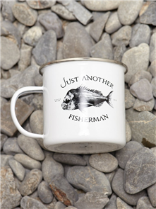 Just Another Fisherman J.A.F SNAPPER LOGO MUG, WHITE