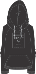 Hurley Minimal Cross Pop Fleece, 00A