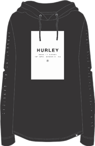 Hurley Rollie Hooded Long Sleeve T-Shirt, 00A