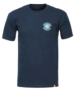 Spitfire Tee White Classic, Navy Teal