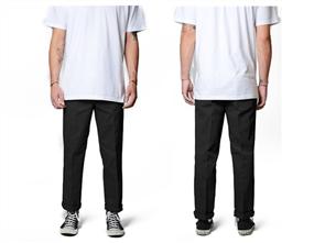 Dickies WP873 Slim Straight Fit Pant, Black