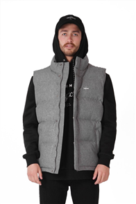 RPM Mens Down Vest, Grey