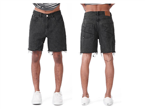 RPM Grunge Short, Washed Black