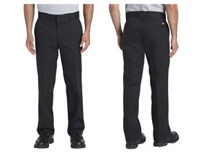 Dickies 873 Flex Slim Fit Straight Leg, Black