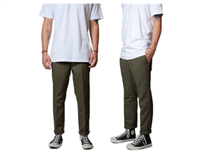 Dickies We872 Slim Tapered Fit Pant, Olive Green