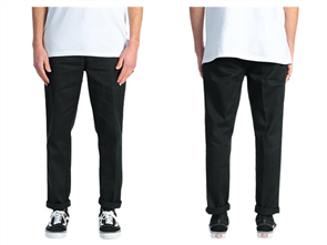 Dickies We872 Slim Tapered Fit Pant, Black