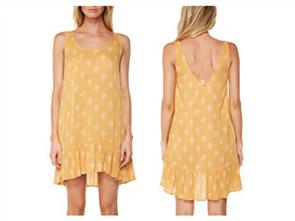 Oneill Pasadena Dress, Sunflower Spade
