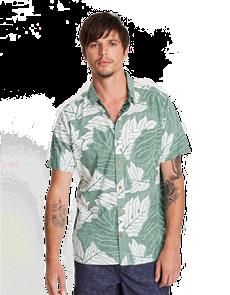 Hurley Sig Zane Ululoa Woven Short Sleeve Shirt, Light Creme