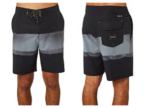 Hurley Phantom Pigment Beachside Boardshort, Black