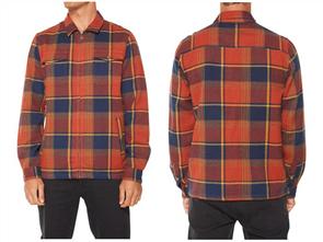 Oneill Lodge Flannel Jacket, Bor Bor Burnt Orange