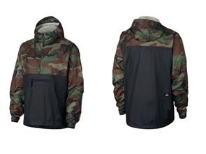 Nike Sb Anorak Jacket Camo, 222, Olive Black