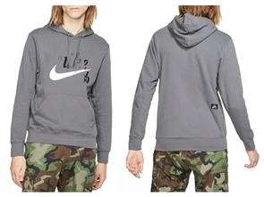 Nike Mens Sb Hoodie Washed Icon, 010, Black White