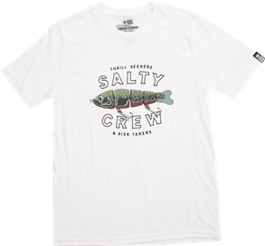 Salty Crew Paddle Tail Boys Short Sleeve Tee, White