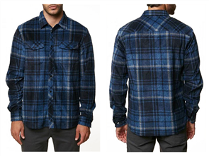 Oneill Glacier Plaid Ls Shirt, Dark Blue
