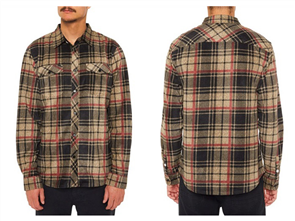 Oneill Glacier Plaid Ls Shirt, Dark Army