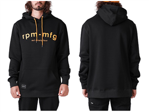 RPM Icon Pull Over Hood, Black