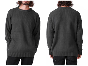 RPM Fisherman Knit Sweater, Dark Green