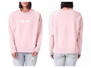 RPM Womens Lowercase Crew Sweater, Blush
