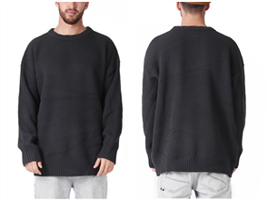 RPM Fisherman Knit Sweater, Navy