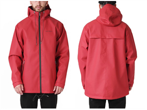 RPM Mens Raincoat Jacket, Red