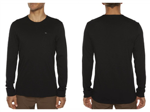 Oneill Jacks Base Long Sleeve Tee, Black Out