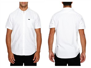 RVCA Thatll Do Stretch Short Sleeve Shirt, White