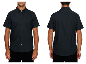 RVCA Thatll Do Stretch Short Sleeve Shirt, Black