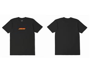 Santa Cruz Flame Strip Short Sleeve Tee, Black
