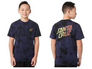 Santa Cruz Stack Fade Short Sleeve Tee - Youth, Navy Td