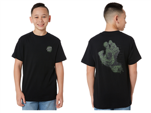 Santa Cruz Spray Hand Short Sleeve Tee - Youth, Black
