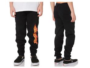 Santa Cruz Shock Strip Track Pant - Youth, Black