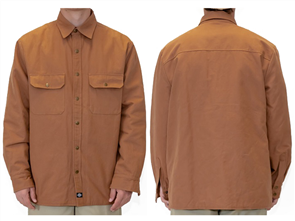 Dickies BRYCE QUILTED LINED SHIRT JACKET, BROWN DUCK