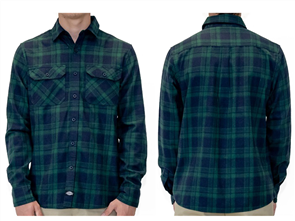 Dickies PALOUSE REGULAR FIT L/S SHIRT, GREEN