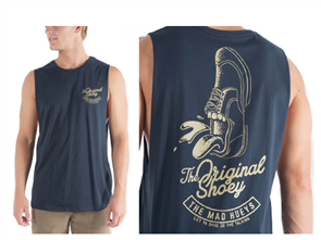 The Mad Hueys ORIGINAL SHOEY MUSCLE TEE, NAVY