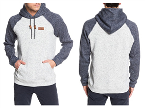 Quiksilver Keller Block Hood, Light Grey Heather